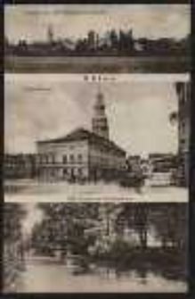 Ohlau – Ansicht von den Ohlewiesen gesehen, Ring-Rathaus, Ohle Partie am Schützenhaus [Dokument ikonograficzny]