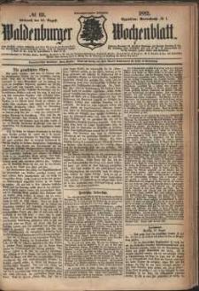 Waldenburger Wochenblatt, Jg. 28, 1882, nr 69