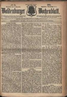 Waldenburger Wochenblatt, Jg. 28, 1882, nr 72