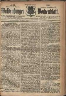 Waldenburger Wochenblatt, Jg. 28, 1882, nr 73