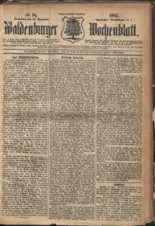 Waldenburger Wochenblatt, Jg. 28, 1882, nr 76