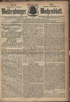 Waldenburger Wochenblatt, Jg. 28, 1882, nr 77