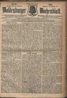Waldenburger Wochenblatt, Jg. 28, 1882, nr 78