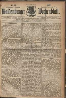 Waldenburger Wochenblatt, Jg. 28, 1882, nr 89
