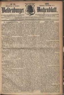 Waldenburger Wochenblatt, Jg. 28, 1882, nr 91
