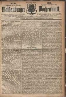 Waldenburger Wochenblatt, Jg. 28, 1882, nr 92