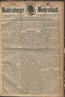 Waldenburger Wochenblatt, Jg. 28, 1882, nr 93