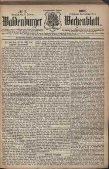 Waldenburger Wochenblatt, Jg. 29, 1883, nr 5