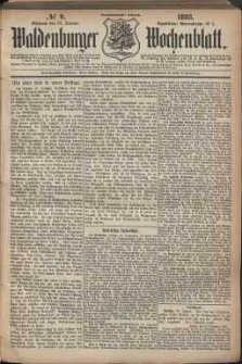 Waldenburger Wochenblatt, Jg. 29, 1883, nr 9
