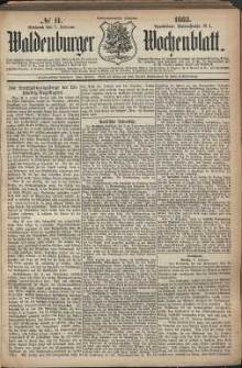 Waldenburger Wochenblatt, Jg. 29, 1883, nr 11