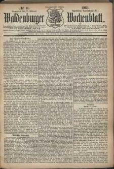 Waldenburger Wochenblatt, Jg. 29, 1883, nr 14