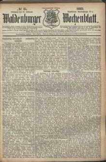 Waldenburger Wochenblatt, Jg. 29, 1883, nr 15
