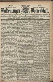 Waldenburger Wochenblatt, Jg. 29, 1883, nr 17