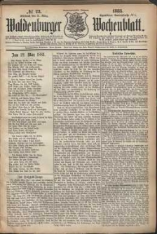 Waldenburger Wochenblatt, Jg. 29, 1883, nr 23