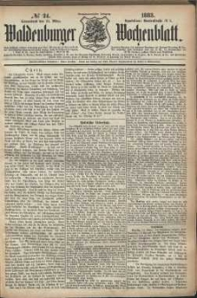 Waldenburger Wochenblatt, Jg. 29, 1883, nr 24