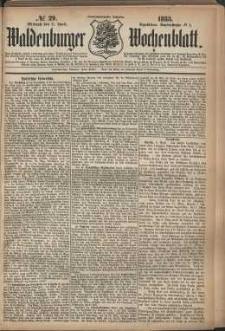 Waldenburger Wochenblatt, Jg. 29, 1883, nr 29