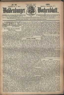 Waldenburger Wochenblatt, Jg. 29, 1883, nr 30