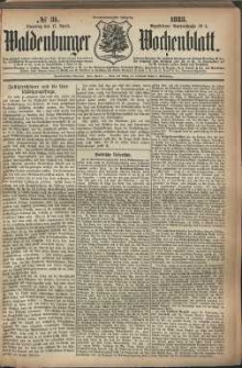 Waldenburger Wochenblatt, Jg. 29, 1883, nr 31