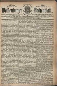 Waldenburger Wochenblatt, Jg. 29, 1883, nr 33
