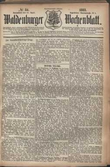 Waldenburger Wochenblatt, Jg. 29, 1883, nr 34