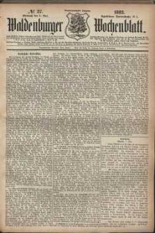 Waldenburger Wochenblatt, Jg. 29, 1883, nr 37
