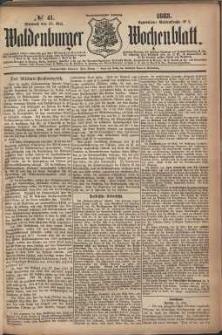 Waldenburger Wochenblatt, Jg. 29, 1883, nr 41