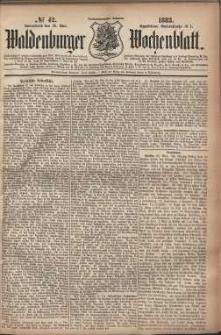 Waldenburger Wochenblatt, Jg. 29, 1883, nr 42