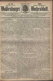Waldenburger Wochenblatt, Jg. 29, 1883, nr 43