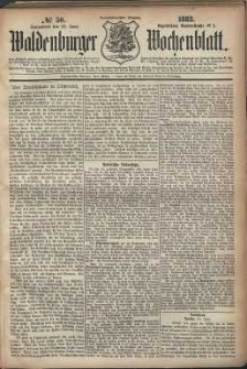 Waldenburger Wochenblatt, Jg. 29, 1883, nr 50