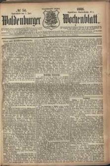 Waldenburger Wochenblatt, Jg. 29, 1883, nr 54