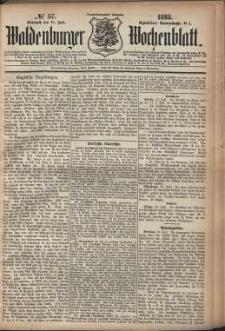 Waldenburger Wochenblatt, Jg. 29, 1883, nr 57
