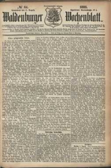 Waldenburger Wochenblatt, Jg. 29, 1883, nr 64