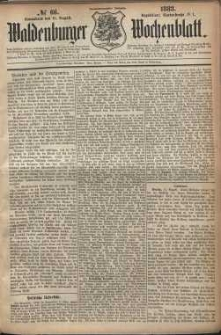 Waldenburger Wochenblatt, Jg. 29, 1883, nr 66