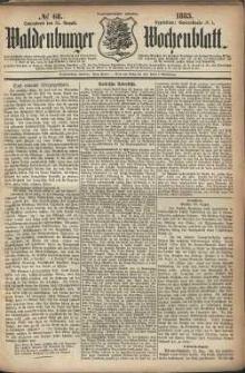 Waldenburger Wochenblatt, Jg. 29, 1883, nr 68