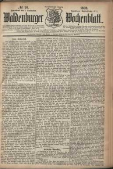 Waldenburger Wochenblatt, Jg. 29, 1883, nr 70