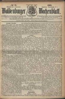 Waldenburger Wochenblatt, Jg. 29, 1883, nr 71