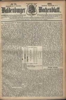 Waldenburger Wochenblatt, Jg. 29, 1883, nr 72