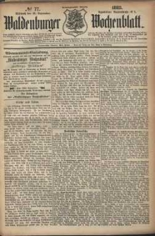 Waldenburger Wochenblatt, Jg. 29, 1883, nr 77