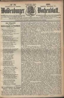 Waldenburger Wochenblatt, Jg. 29, 1883, nr 78