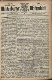 Waldenburger Wochenblatt, Jg. 29, 1883, nr 79
