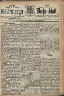 Waldenburger Wochenblatt, Jg. 29, 1883, nr 81