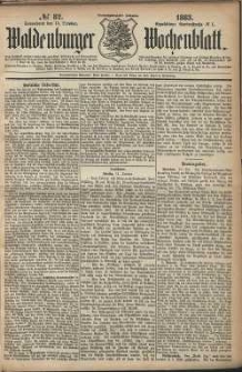Waldenburger Wochenblatt, Jg. 29, 1883, nr 82