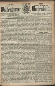 Waldenburger Wochenblatt, Jg. 29, 1883, nr 83