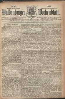 Waldenburger Wochenblatt, Jg. 29, 1883, nr 87