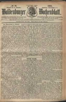 Waldenburger Wochenblatt, Jg. 29, 1883, nr 91