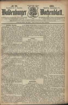 Waldenburger Wochenblatt, Jg. 29, 1883, nr 92