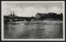 Ohlau – Oderstrand, Oderbrücke u. Jung's Gasthaus [Dokument ikonograficzny]