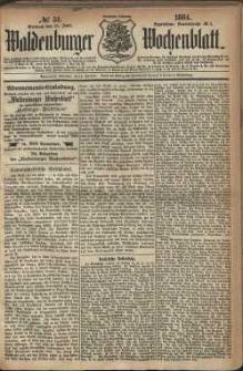 Waldenburger Wochenblatt, Jg. 30, 1884, nr 51