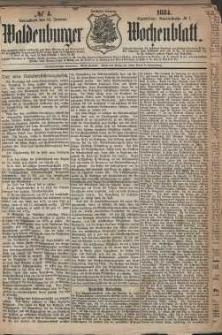 Waldenburger Wochenblatt, Jg. 30, 1884, nr 4