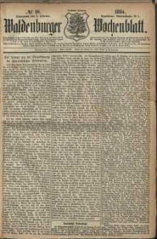 Waldenburger Wochenblatt, Jg. 30, 1884, nr 10